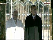 Papa Francis Cumurbaşkanlığı Sarayı'nda