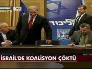 İsrail'de koalisyon çöktü
