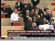 Gürcistan Meclisi'nde kavga!