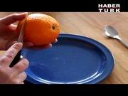 Portakal böyle soyulur!