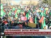 Diyarbakır'da Peygamber'e saygı mitingi