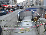 İzmir metrosunda kaza