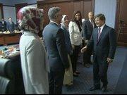 Genel merkezdeki toplantıya Ahmet Davutoğlu başkanlık etti