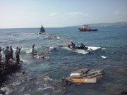 Göçmen teknesi işte böyle battı!