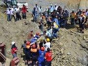 Baraj inşaatında göçük