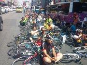 Kadıköy'de bisikletli eylem